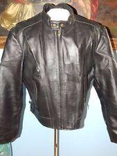 Vintage Mens Black Leather Thinsulate 3M Motorcycle Jacket-50