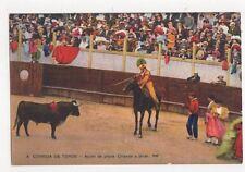 Corrida de Toros Appel de Pique Spain Vintage Postcard 461a