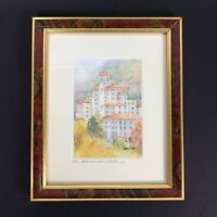 The Broadmoor In Autumn Watercolor Print By Lora Coley Signed Matted Framed
