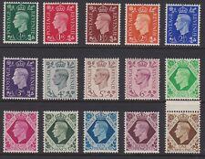 GB GVI 1937 MINT definitive set unmounted sg462-475 MNH