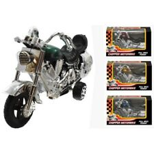 Plastic Pull-Back Chopper Motorbike Motorcycle Kids Toy Vehicle Child Gift Item
