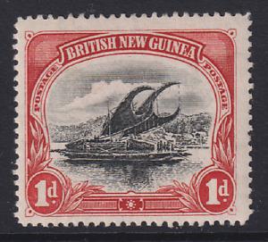 BRITISH NEW GUINEA  1901: MH 1d black & carmine LAKATOI Wmk vertical SG#10