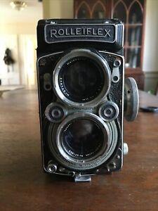 Rolleiflex 2.8 A Zeiss Opton Tessar Red T* W/cap-Serviced- GC