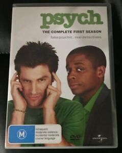 Psych : Season 1 (DVD, 2008, 4-Disc Set) Very Good Condition Region 4