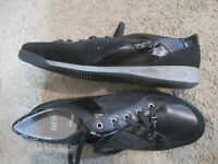 ARA black leather glitter sneakers shoes sz US 11