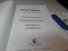 Holy Bible NKJV Giant Print Reference Edition Thomas Nelson