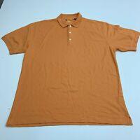 Greg Norman Polo Shirt Mens XXL Play Dry Orange Short Sleeve Casual Golf