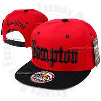 BOMPTON Baseball Snapback Cap Hat Compton YG Hip Hop 3D Embroidery Flat Bill New