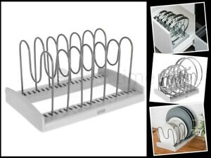 Cupboard Saucepan Pan Lids Storage Rack Holder Cabinet Kitchen Shelving Plates