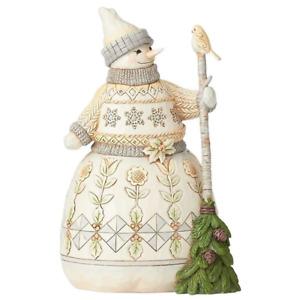 "Heartwood Creek - 21.5cm/8.5"" Snowman with Broom"