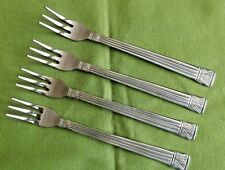 Farberware Stainless 4 Seafood/Cocktail Forks Tiamo Pattern Indonesia Ridges
