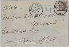 REGNO - Storia Postale: Sass  140 ISOLATO  su BUSTA da SAN REMO  1923