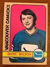 1972/73 Topps Hockey Card #91 Dunc Wilson Vancouver Canucks NM+