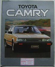 Toyota Camry 1.8 GL Turbo Diesel 2.0 GLi 1984-85 Original UK Brochure in folder