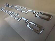 QUATTRO Audi Aufkleber 2 Stk.Seitenaufkleber  CHROMEFFEKT 3D UV protected