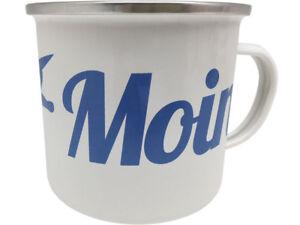 Moin Moin XXL Blechtasse Emaille Becher Tasse 9 x 9 cm Füllmenge 500 ml