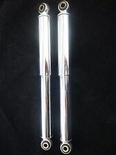 Paire d'amortisseurs chromé 320 mm  cyclo type PEUGEOT103 mobylette NEUF 496078