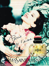 PUBLICITE ADVERTISING 055  1994  Parfum pour femme  YVES SAINT LAURENT
