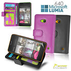 Wallet Flip Leather Stand Case Cover for Microsoft Nokia Lumia 640 + Screen Gud