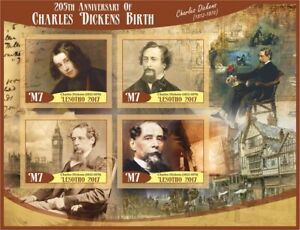 Stamps Charles Dickens imperforated
