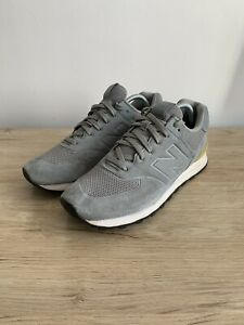 New Balance 574 Grey/Green Suede Men's Trainers - Size UK 10 - Good Condition