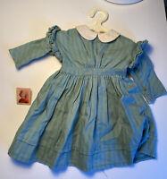 American Girl Doll Kirsten Prarie Work Dress Green Pin Hanger Pleasant Co Stripe