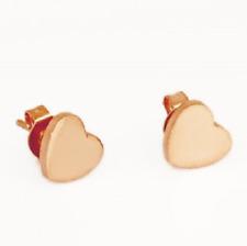 Titanium Titan Ohrstecker Ohrringe Ohrschmuck Herzen Rosegold rose rotgold Damen