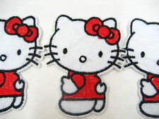 Cute hello kitty Embroidered Sew On Iron On clothes Sticker badge bag case patch