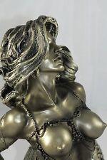 meerjungfrau,19x15cm,figur,skulptur,nixe,frau,erotic,erotik,deko,mermaid,sirène