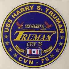 "USS HARRY S TRUMAN CVN 75 Decal 4"" x 4"" US Navy"