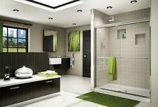 "FLEURCO 48"" x 75"" BANYO CORDOBA 3/8"" GLASS SEMI FRAMELESS SLIDING SHOWER DOOR"