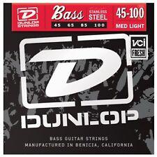 Dunlop Bass Cuerdas Para Guitarra Luz Media Inoxidable steel45-100