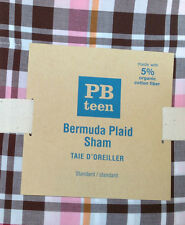 POTTERY BARN ~ PB TEEN ~  BERMUDA PINK SHAM ~ BEDDING ~ PLAID