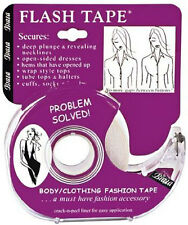 Braza Flash Tape Adhesive Double Sided Clothing Tape 20 Foot Roll Dispenser