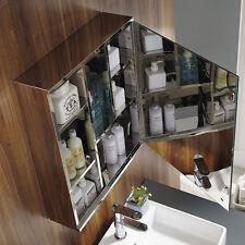 500mm Single Mirror Door Stainless Steel Bath Cabinet Wall Hung Bathroom Unit