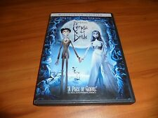 Tim Burton's Corpse Bride (DVD, 2006, Widescreen) Johnny Depp Used