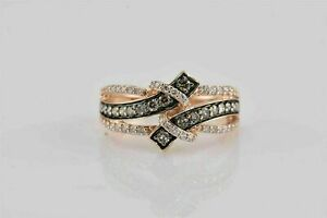 1Ct Round Cut White Diamond Engagement Wedding Bypass Ring 14k Rose Gold Over