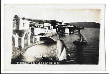Rare Early view of Tiberias & Sea of Galilee RP PPC with Sailing Vessels to Fore