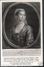 Theatre Postcard-Lavinia Fenton, Duchess of Bolton, In The Beggar's Opera RS1003
