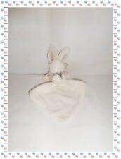 ♪ - Doudou Peluche Lapin  Bonbon Blanc Beige avec Mouchoir Doudou et Compagnie