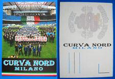 CARTOLINA POSTCARD - CENTO ANNI INTER - CURVA NORD MILANO