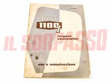 LIBRETTO USO E MANUTENZIONE FIAT 1100 INDUSTRIALE FURGONE CAMIONCINO ORIGINALE