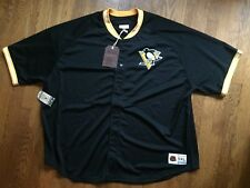 NWT! Pittsburgh Penguins Mitchell & Ness NHL Seasoned Pro Mesh Jersey 5XL