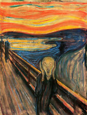 "The Scream by Edvard Munch, 100% Handmade Oil Painting Reproduction, 24"" x 32"""
