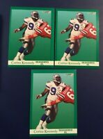 1991 Fleer # 190 CORTEZ KENNEDY Lot 3 Seattle Seahawks HALL OF FAMER Sharp !