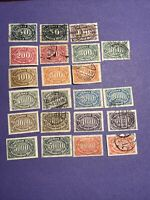Rare High Value Germany 1922-23 22 Pcs Stamps, MNH,MH And Used,see Photos