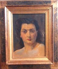 Ch. KVAPIL  Original. Huile sur panneau «portrait de femme».