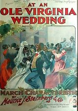 "Music History ""At an Ole Virginia Wedding"" Music Folio - Lithograph Issued 1900"