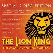 LION KING CD & DVD ORIGINAL BROADWAY CAST DELUXE 2010 NEW