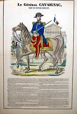 Imagerie populaire d'Epinal de Pellerin, Le général Cavaignac, 1850